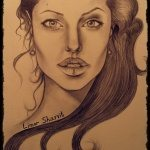 Art: Portraits, drawings, paintings - Angelina Jolie