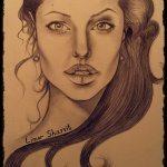 אומנות: ציורים ודיוקנים - אנג'לינה ג'ולי
