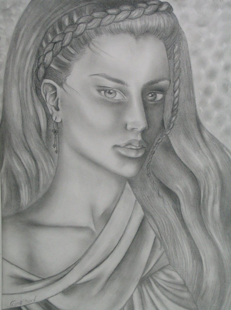 Drawings and paintings - Braids drawing