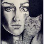 אומנות: ציורים ודיוקנים - אישה חתול