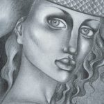 Art: Portraits, drawings, paintings - Close up drawing