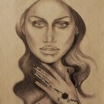Art: Portraits, drawings, paintings - Henna tattoos drawing