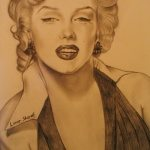 Art: Portraits, drawings, paintings - Marilyn Monroe
