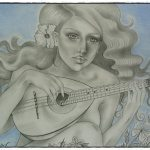 Art: Portraits, drawings, paintings - Spanish guitar drawing