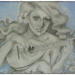 אומנות: ציורים ודיוקנים - גיטרה ספרדית