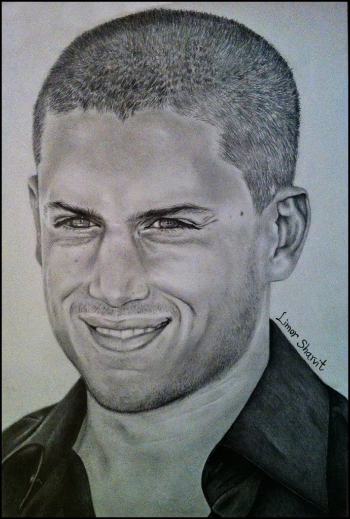 Portraits of celebrities - Wentworth Miller