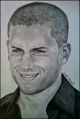 5 ways to draw a portrait - Wentworth Miller